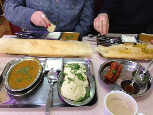 Idli sambar and paper dosas were gobbled up with lashings of coconut chutney @ Four Seasons Chaat House.