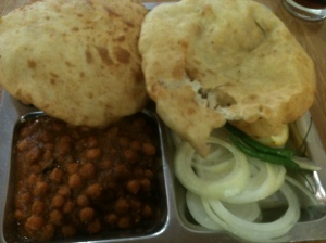 Chole bhatura at Sharmilee in Leicester.